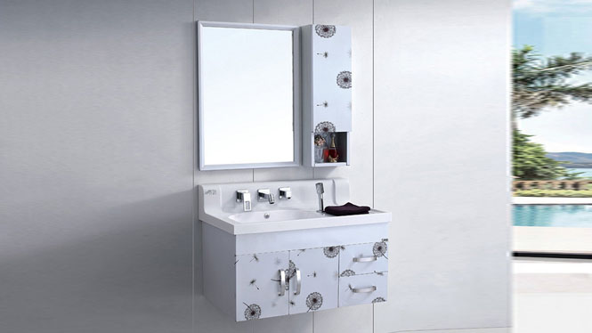 太空铝合金浴室柜组合小户型卫生间阳台挂墙式吊柜900mm WSJ-858