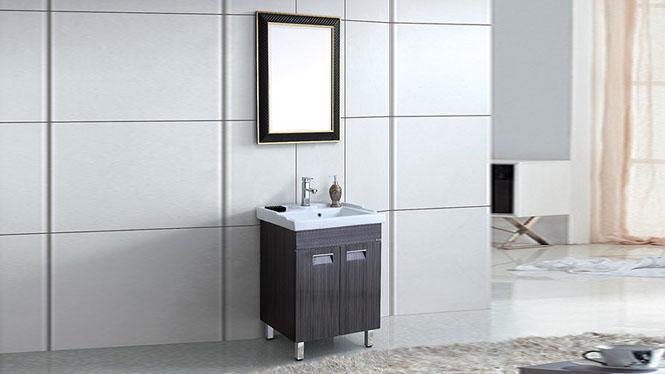 太空铝浴室柜组合卫生间洗脸盆小户型卫浴柜落地式洗漱台600mm WSJ-870