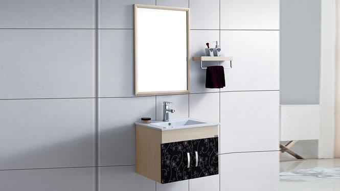 太空铝浴室柜组合卫浴柜洗脸盆柜卫生间洗手盆柜 镜柜挂墙式600mm WSJ-876