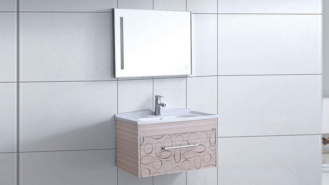 太空铝浴室柜 卫生间漱洗吊柜 小户型洗脸盆组合柜800mm WSJ-871