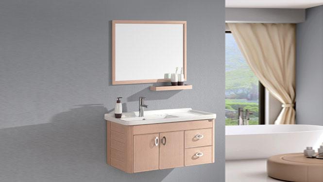 太空铝浴室柜现代简约卫浴柜洗脸盆柜组合挂墙式浴室柜800mm WSJ-802