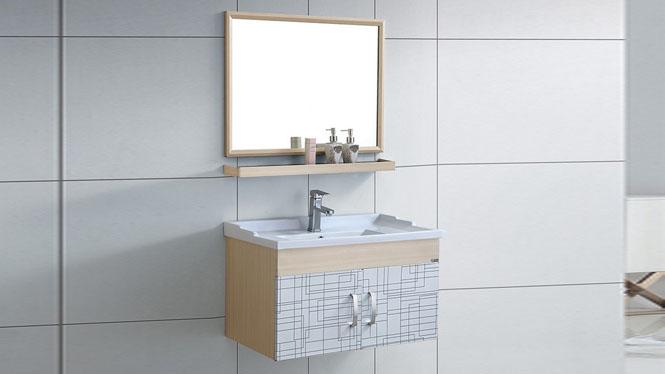 太空铝型材小户型浴室柜组合卫生间挂墙吊柜卫浴柜盆800mm WSJ-866