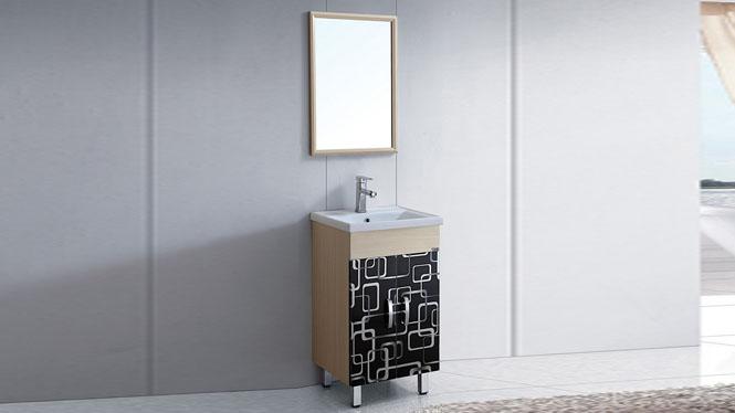 太空铝洗脸台盆柜小卫生间浴室落地柜组合 小型卫浴柜洗手盆柜510mm WSJ-8825