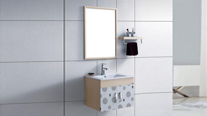 太空铝浴室柜组合 卫生间挂墙吊柜 小户型漱洗卫浴柜600mm WSJ-8827