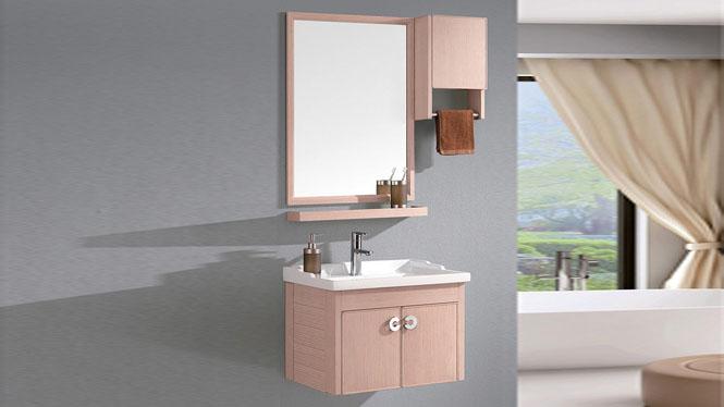 太空铝浴室柜组合小卫生间简约挂墙卫浴柜组合卫浴柜吊柜600mm WSJ-808