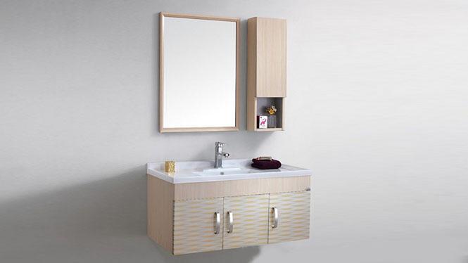 太空铝浴室柜组合卫生间洗脸洗手盆柜洗漱台盆卫浴柜吊柜1000mm WSJ-860