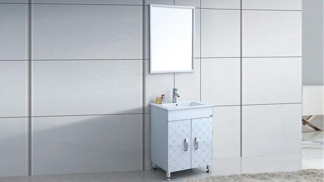 太空铝浴室柜 洗脸盆组合柜 卫生间小户型卫浴落地柜600mm WSJ-874