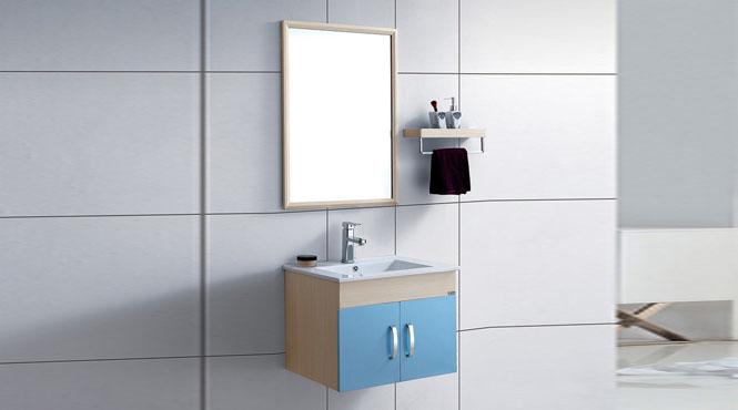 现代太空铝浴室柜 洗脸盆组合柜 小户型浴室漱洗吊柜600mm WSJ-878