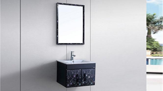 太空铝浴室柜组合防潮洗漱台一体陶瓷盆洗手洗面盆柜镜柜挂墙600mm WSJ-8828
