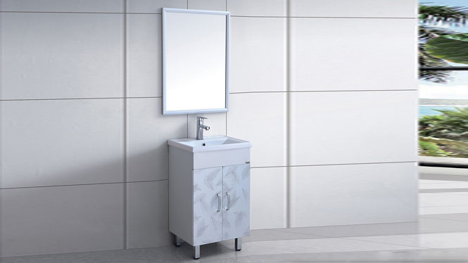 太空铝浴室柜组合洗漱台洗脸洗手盆池台盆卫生间洁具落地式510mm WSJ-8826