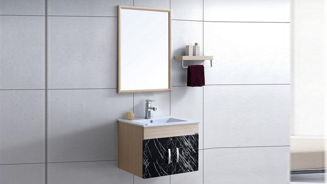 太空铝洗手盆柜 小卫生间洗脸盆柜组合 卫浴浴室柜 洗面盆柜600mm WSJ-881