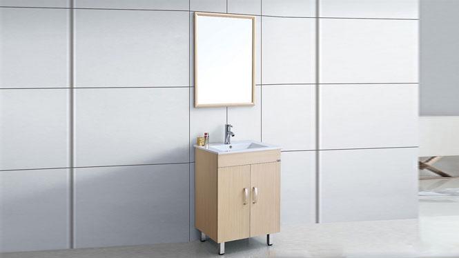 太空铝洗面盆柜 小型卫浴柜洗脸盆柜组合 洗手盆柜 600mm WSJ-873
