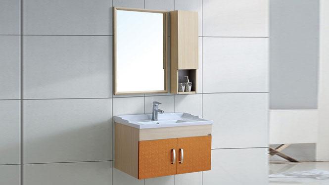 太空铝浴室柜 洗脸盆组合柜 卫生间挂墙吊柜 漱洗柜盆800mm WSJ-868