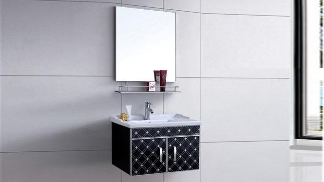 太空铝浴室柜 卫生间漱洗柜盆 小户型洗脸盆卫浴吊柜700mm WSJ-8829