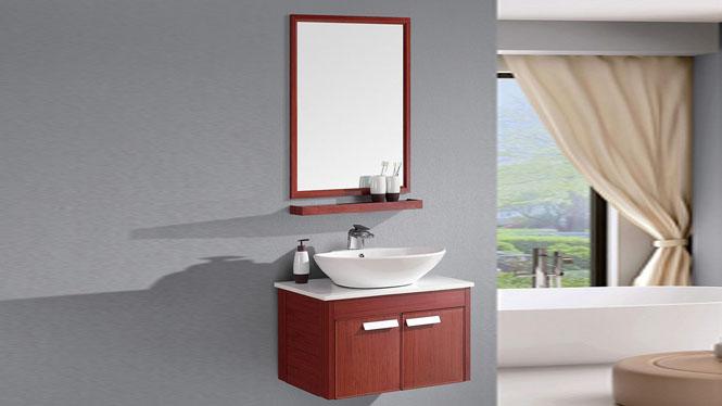 太空铝浴室柜 洗手盆组合柜 卫生间挂墙吊柜720mm SL-806