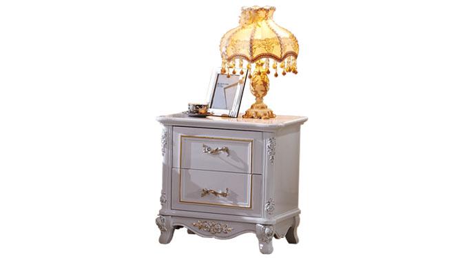 现代简约床头柜 烤漆卧式收纳柜抽屉式 小户型板式储物柜175#