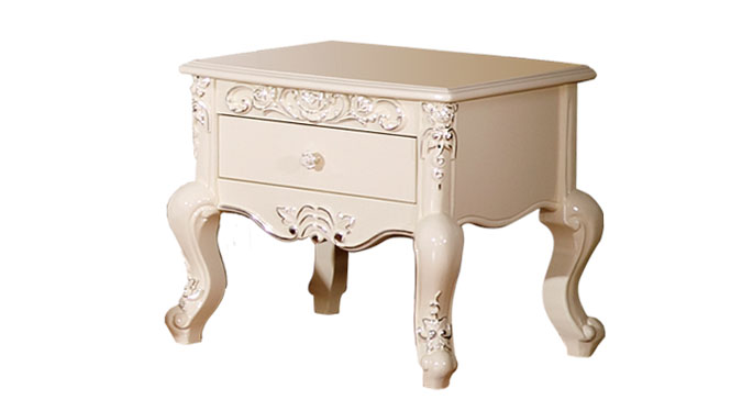 现代简约床头柜 白色钢琴烤漆 时尚卧室床边柜 简易双抽储物边柜149#