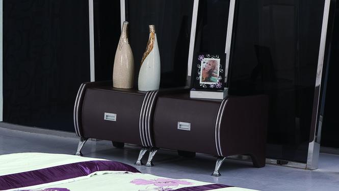 欧式田园实木床头柜 简约时尚床边柜 储物柜收纳柜 宜家特价斗柜32#