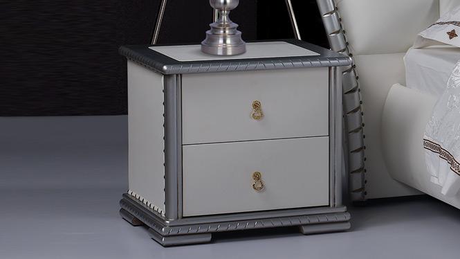现代中式实木床头柜床边柜简约抽屉储物柜卧室家具52#