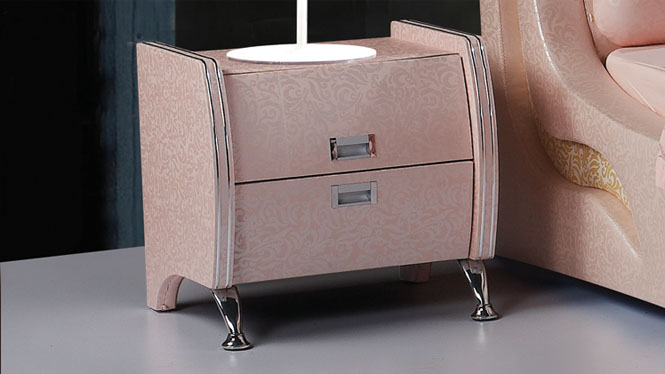 实木床头柜特价地中海卧室床头柜储物柜现代简约迷你床头柜16#