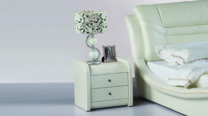 迷你家具实木床头柜水曲柳抽屉储物柜简约现代多色床边柜02#
