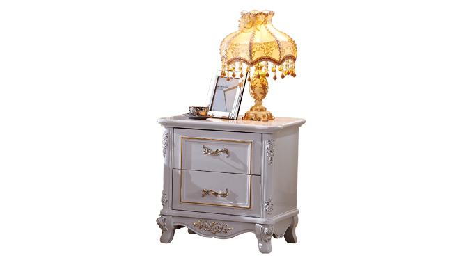 现代中式储物柜简约卧室实木床头柜床头橱收纳家具175#