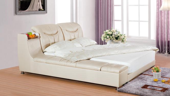 皮艺床 皮床1.8米 双人床软体床公主床小户型储物床2303#
