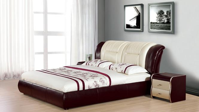皮艺真皮床小户型卧室软体床大床双人床婚床1.8米榻榻米2302#