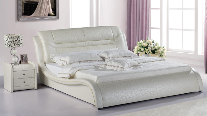 皮床双人床储物气动床1.8米婚床软体床小户型皮艺床933#