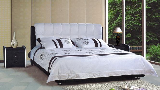 皮床真皮床软床1.8米软体皮艺床双人床 软包现代简约婚床279#