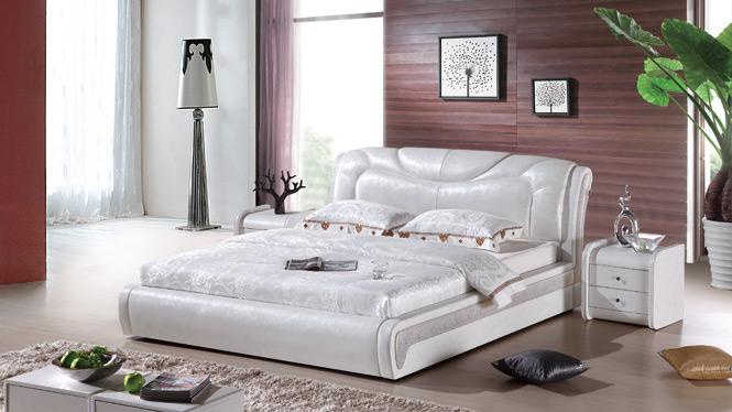 皮床 软床 双人床 真皮床 软包床 1.8米 婚床 皮艺床 榻榻米床238#