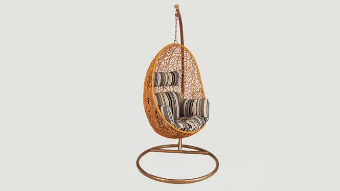 鸟巢吊篮室内休闲户外摇椅藤椅秋千吊椅阳台摇挂椅PE-1005T