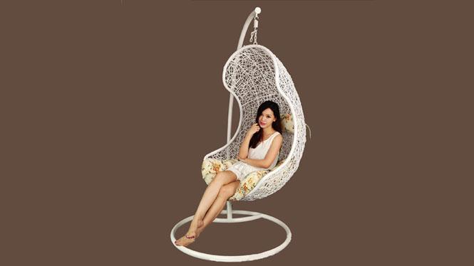 鸟巢吊篮吊椅室内休闲户外摇椅藤椅秋千阳台摇挂椅PE-1010T