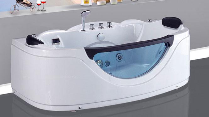 浴缸亚克力浴盆浴缸 多功能按摩浴缸 三裙边椭圆形浴缸HG-1061