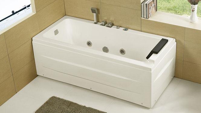 亚克力保温浴缸 1.5米左裙浴缸 单人浴缸时尚简约小浴缸HG-1035