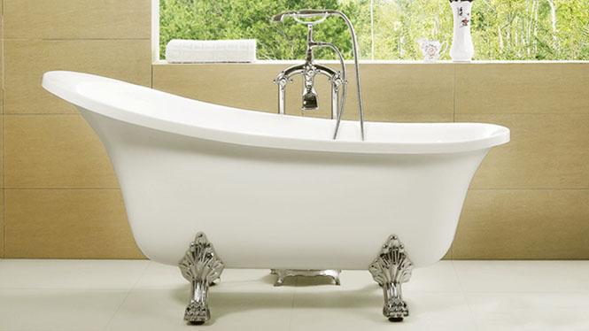 亚克力浴缸超薄边贵妃浴缸保温浴缸超大空间小浴缸多色独立式浴缸HG-1036