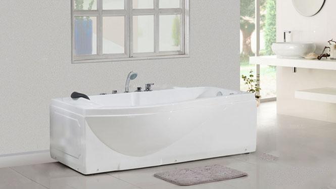 独立式 亚克力浴缸 多功能按摩浴缸 手动恒温系统HG-1041