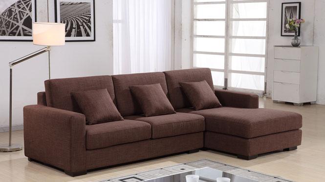 简易客厅时尚布艺小户型沙发现代简约新款可拆洗转角组合AF1305