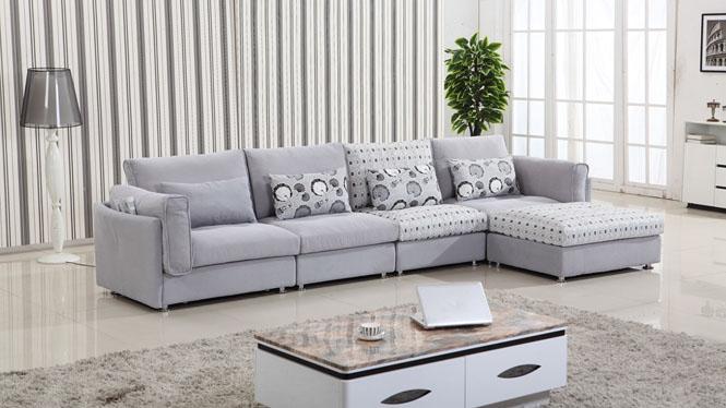 客厅沙发现代简约转角布艺沙发组合大小户型家具沙发皮布沙发AF1302
