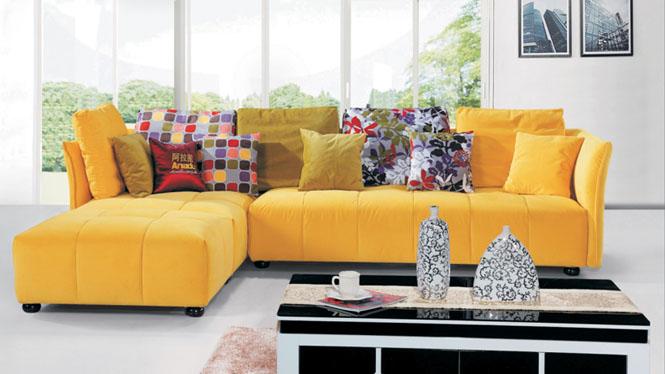 沙发布艺沙发简约大小户型客厅沙发转角皮布沙发储物组合AF569