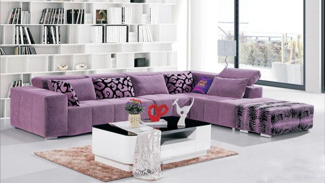 客厅家具小户型布艺沙发转角可拆洗布沙发组合现代简约布沙发AF566
