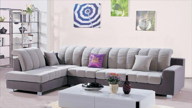布艺沙发组合 现代简约沙发 转角可拆洗 布沙发 大小户型AF565