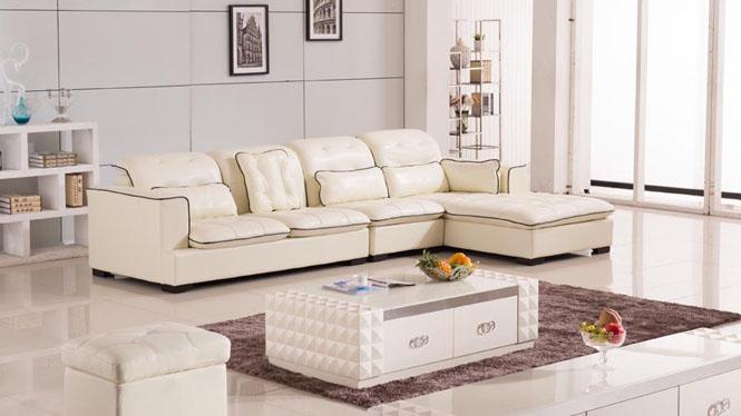 简约现代真皮沙发头层牛皮客厅转角皮艺沙发组合AL506