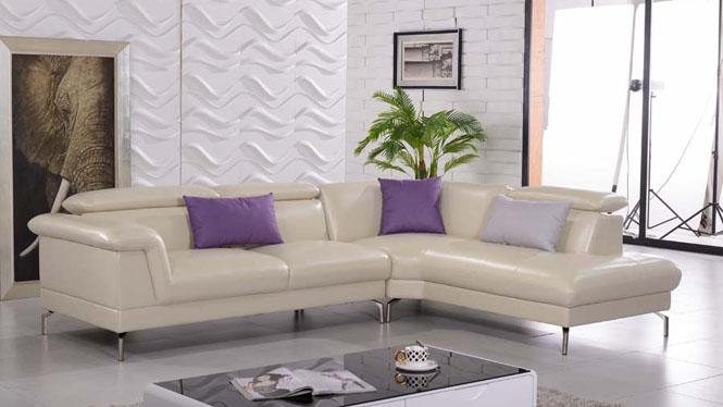 简居皮艺沙发头层牛皮 大小户型皮艺沙发 简约现代客厅组合AL605