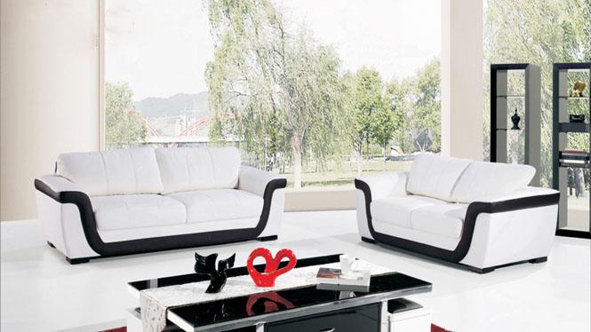皮沙发 皮艺沙发时尚客厅组合沙发大小户型皮艺沙发 创意转角沙发AL370