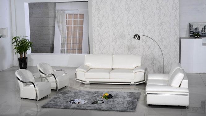 皮艺沙发简约现代小户型真皮沙发客厅组合中厚头层牛皮AL345