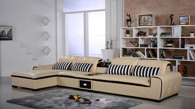 皮艺沙发 真皮沙发 功能沙发 时尚简约大小户型 皮沙发组合AL346-C