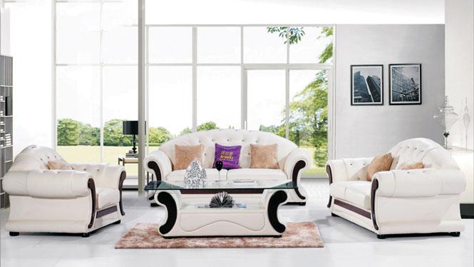 沙发 真皮沙发 沙发组合 皮艺沙发 小户型客厅贵妃沙发AL098