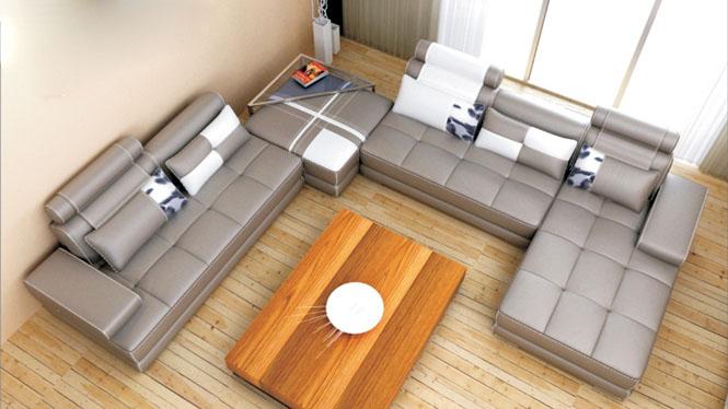 皮沙发 特价真皮沙发 时尚客厅家具皮艺沙发头层牛皮 现代简约沙发AL229