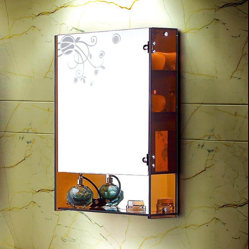 钢化玻璃浴室镜柜 欧式边柜置物柜收纳柜壁柜储物柜L-J001